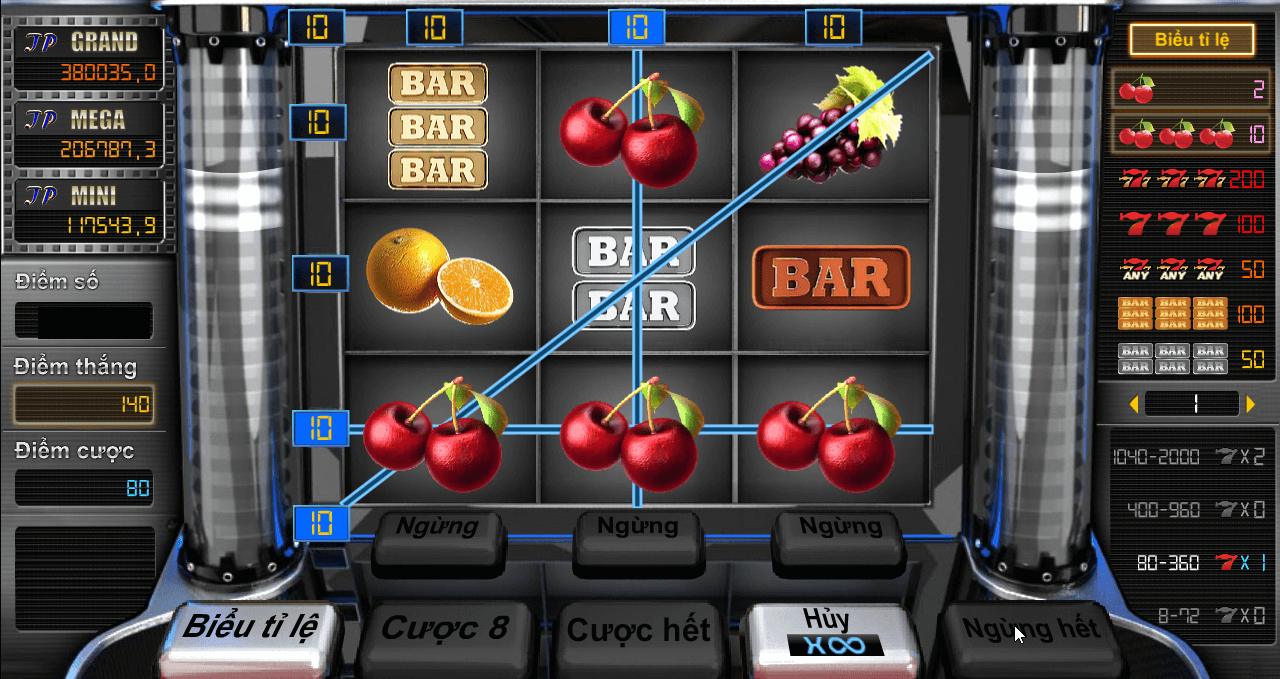 bar trái cây game casino kubet