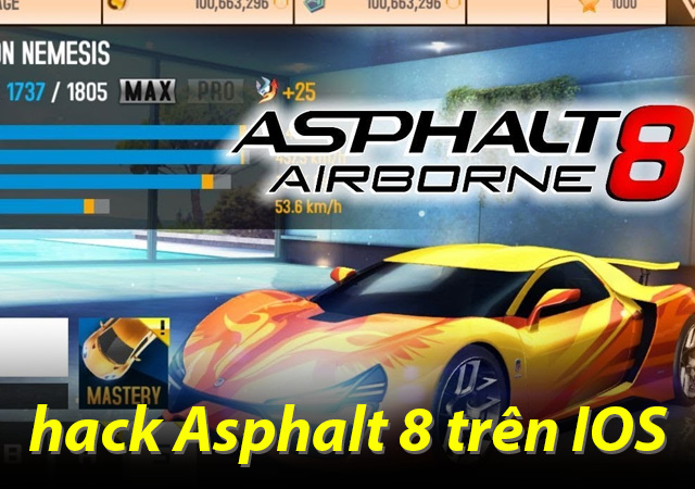 hack game asphalt 8 trên ios